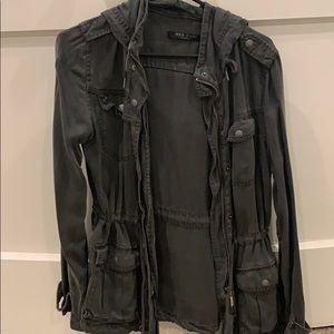 Max jeans gray utility jacket
